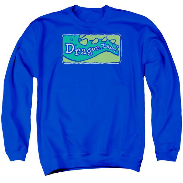 Dragon Tales Logo Clean Adult Crewneck Sweatshirt Royal