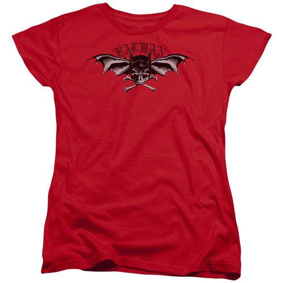 Batman Wings Of Wrath Short Sleeve Womens Tee T-Shirt