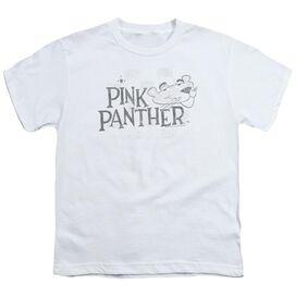 Pink Panther Sketch Logo Short Sleeve Youth T-Shirt