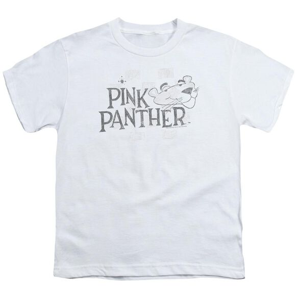 Pink Panther Sketch Logo Short Sleeve Youth T-Shirt
