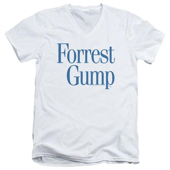 Forrest Gump Logo Short Sleeve Adult V Neck T-Shirt