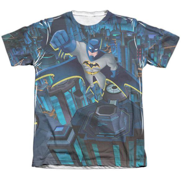 Batman Unlimited Cityscape Adult Poly Cotton Short Sleeve Tee T-Shirt
