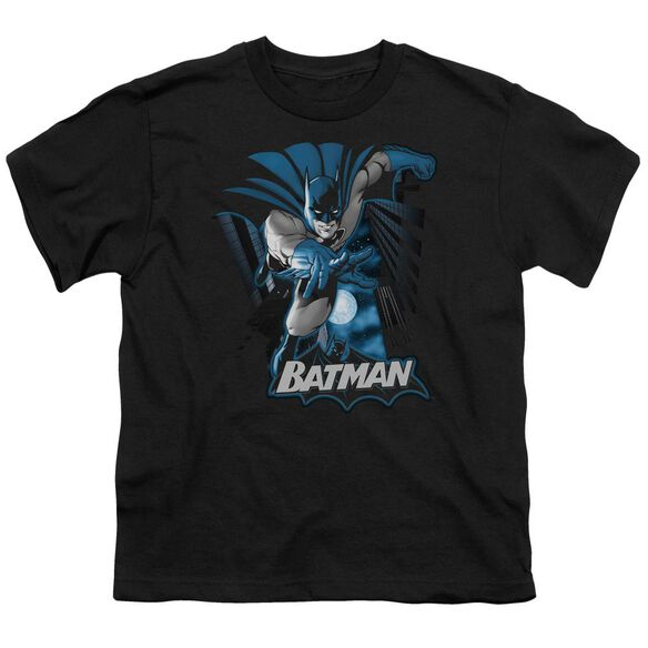 Jla Batman Blue & Gray Short Sleeve Youth T-Shirt
