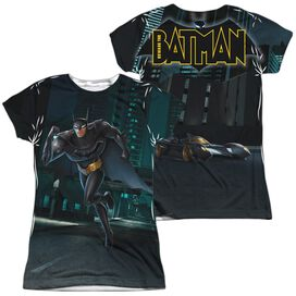 Beware The Batman Run (Front Back Print) Short Sleeve Junior Poly Crew T-Shirt