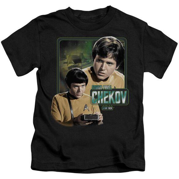 Star Trek Ensign Chekov Short Sleeve Juvenile Black T-Shirt