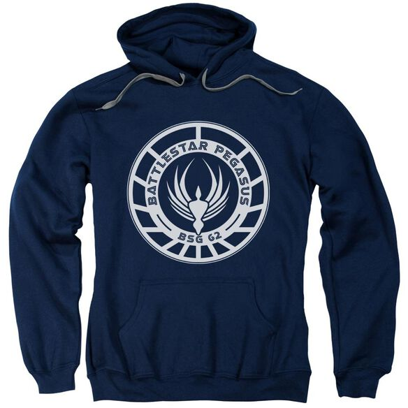 Bsg Pegasus Badge Adult Pull Over Hoodie