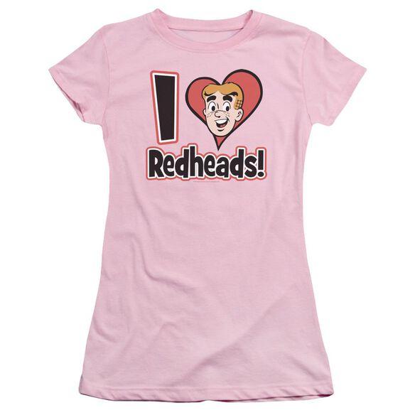 Archie Comics I Love Redheads Short Sleeve Junior Sheer T-Shirt