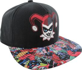 Harley Quinn Face Sublimated Bill Hat