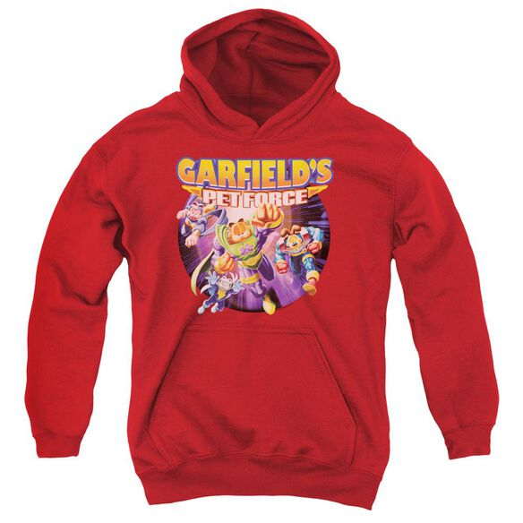 Garfield Pet Force Four Youth Pull Over Hoodie