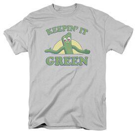 Gumby Keepin It Green Short Sleeve Adult T-Shirt