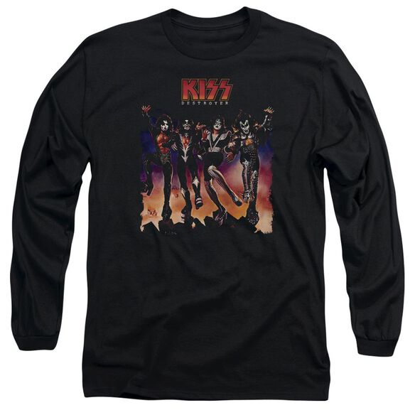 Kiss Destroyer Cover Long Sleeve Adult T-Shirt