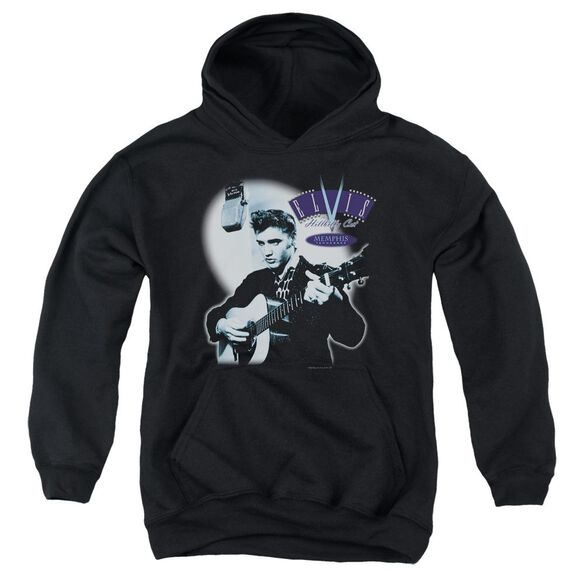 Elvis Hillbilly Cat Youth Pull Over Hoodie
