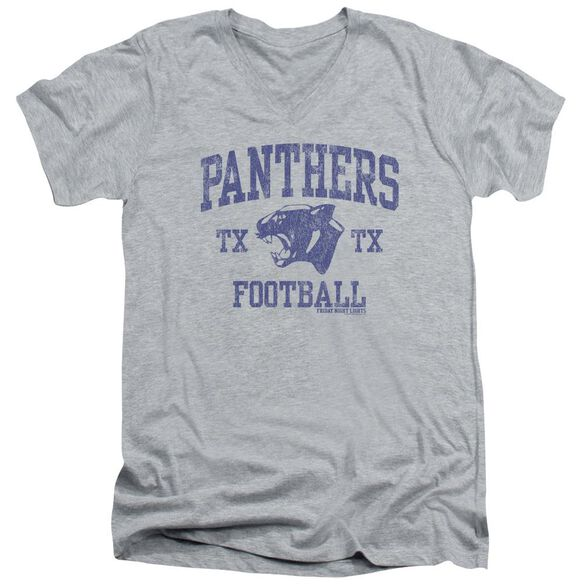 Friday Night Lights Panther Arch Short Sleeve Adult V Neck Athletic T-Shirt