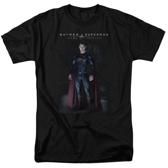 Batman V Superman Stand Tall Short Sleeve Adult Black T-Shirt