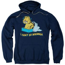 Garfield I Don'T Do Mornings Adult Pull Over Hoodie