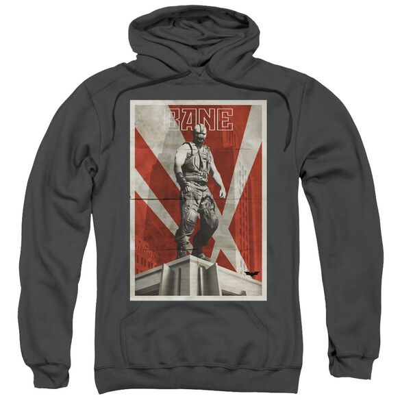 Dark Knight Rises Bane Rooftop Poster Adult Pull Over Hoodie