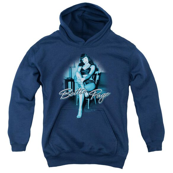 Bettie Page Patient Pin Up Youth Pull Over Hoodie