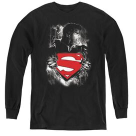 Superman Darkest Hour - Youth Long Sleeve Tee