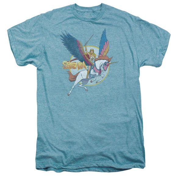 She Ra And Swiftwind Short Sleeve Adult Premium Tee Sky T-Shirt