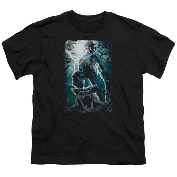 Batman Night Light Short Sleeve Youth T-Shirt