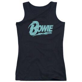 David Bowie Logo Juniors Tank Top