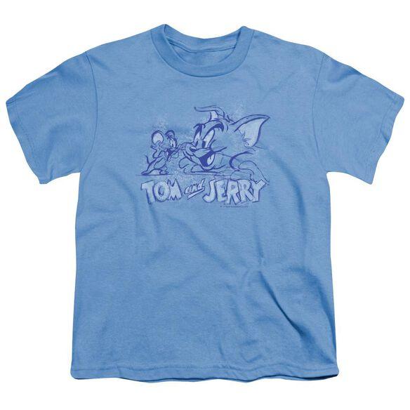 Tom And Jerry Sketchy Short Sleeve Youth Carolina T-Shirt