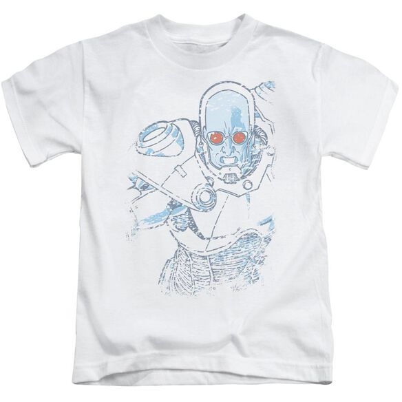 Batman Snowblind Freeze Short Sleeve Juvenile White T-Shirt