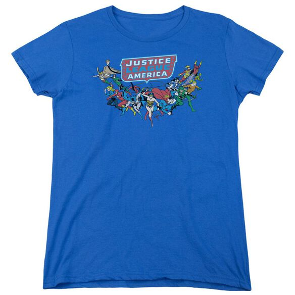 Dc Here They Come Short Sleeve Women's Tee Royal T-Shirt