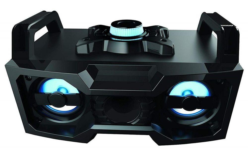 Sharper Image Sbt3007bk Bluetooth Speaker With Lights Wireless