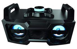 Sharper Image SBT3007BK Bluetooth Speaker With Lights, Wireless Multicolored DJ Boombox Sound System, LED Speaker With Lights, Portable Stereo Sound System