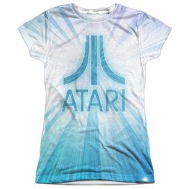 Atari Burst Logo Short Sleeve Junior Poly Crew T-Shirt
