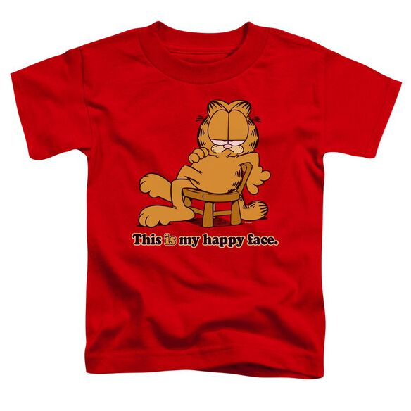 Garfield Happy Face Short Sleeve Toddler Tee Red Sm T-Shirt