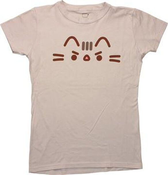 Pusheen the Cat Angry Cat Face Ladies T-Shirt