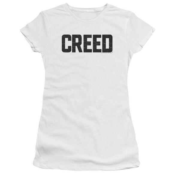 Creed Cracked Logo Short Sleeve Junior Sheer T-Shirt