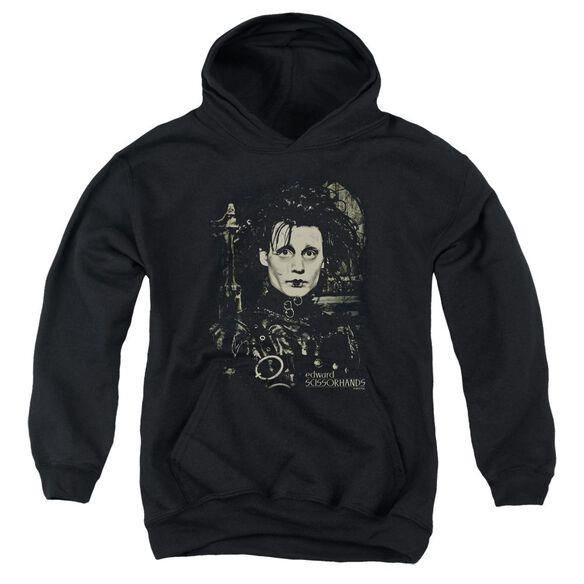 Edward Scissorhands Edward Youth Pull Over Hoodie