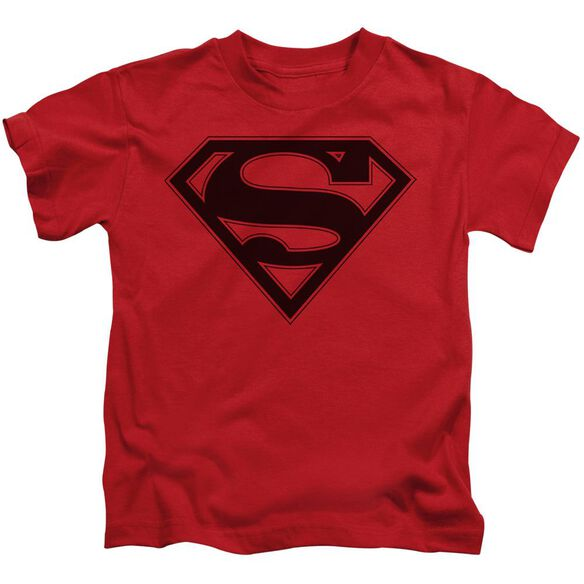 Superman & Black Shield Short Sleeve Juvenile T-Shirt