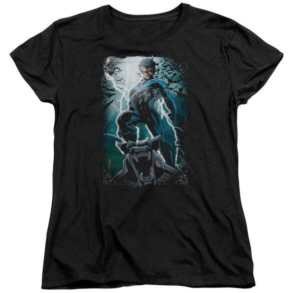 Batman Night Light Short Sleeve Womens Tee T-Shirt