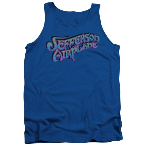 Jefferson Airplane Gradient Logo Adult Tank Royal