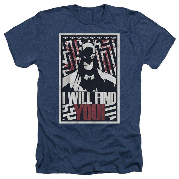 Batman I Will Fnd You - Adult Heather - Navy