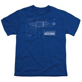 WAREHOUSE 13 TESLA GUN - S/S YOUTH 18/1 - ROYAL BLUE T-Shirt