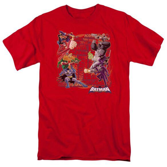 Batman Bb Good Vs Bad Short Sleeve Adult T-Shirt
