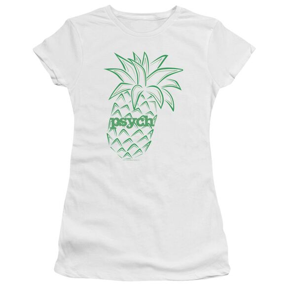 Psych Pineapple Short Sleeve Junior Sheer T-Shirt