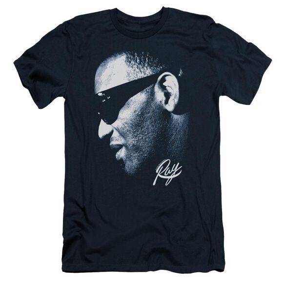 Ray Charles Blue Ray Short Sleeve Adult T-Shirt
