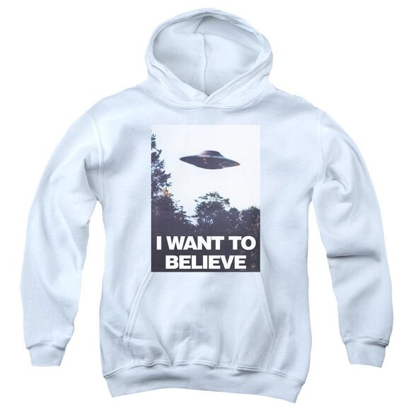 X Files Believe Poster Youth Pull Over Hoodie