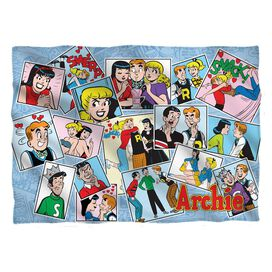 Archie Panels Pillow Case White