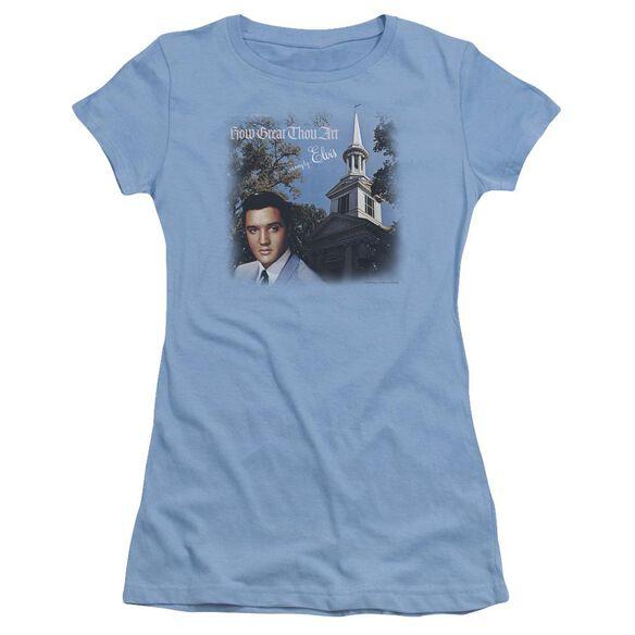 Elvis How Great Thou Art Short Sleeve Junior Sheer Carolina T-Shirt