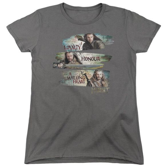 The Hobbit Loyalty And Honour Short Sleeve Womens Tee T-Shirt