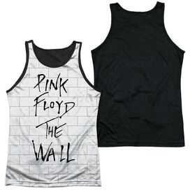 Roger Waters The Wall Adult Poly Tank Top Black Back