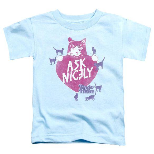 Tender Vittles Nicely Short Sleeve Toddler Tee Light Blue Lg T-Shirt