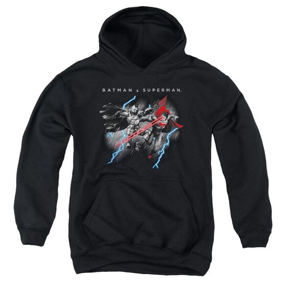 Batman V Superman Lightning Fight Youth Pull Over Hoodie